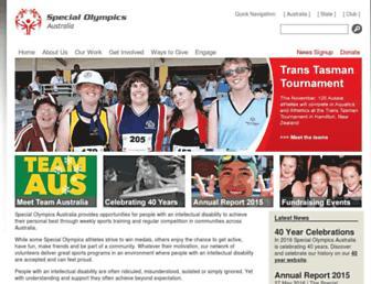 specialolympics.com.au screenshot