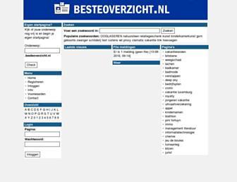 Main page screenshot of besteoverzicht.nl