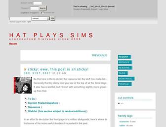 hat-plays-sims.dreamwidth.org screenshot