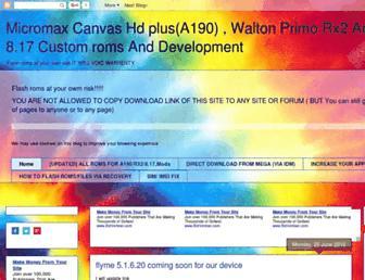 hdplus-a190-rx2-customroms.blogspot.com screenshot