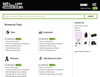 support.klipxtreme.com screenshot
