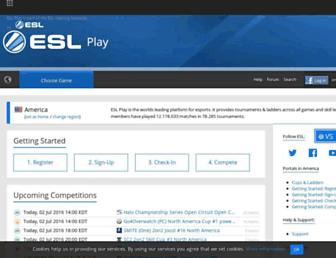play.eslgaming.com screenshot