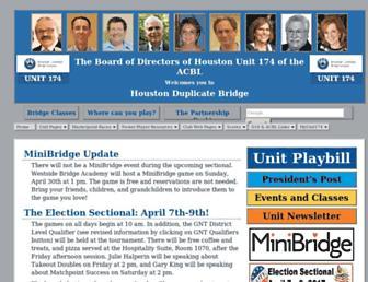 Main page screenshot of acblunit174.org