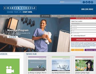 chartercollege.edu screenshot