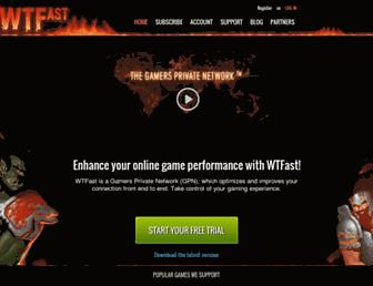wtfast.com screenshot