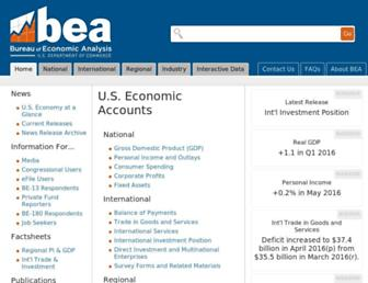 bea.gov screenshot