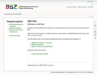 Main page screenshot of wiki.bsz-bw.de
