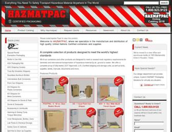 hazmatpac.com screenshot
