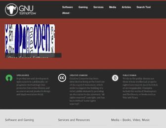 gnutomorrow.com screenshot