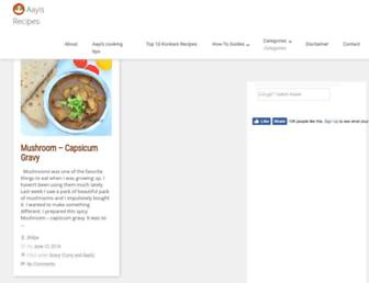 Thumbshot of Aayisrecipes.com