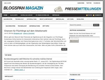 Main page screenshot of blogspan.net