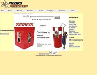 physicslessons.com screenshot