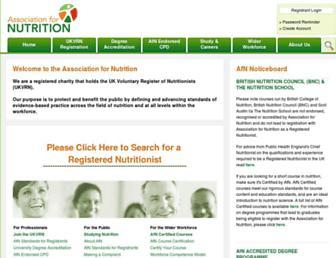 associationfornutrition.org screenshot