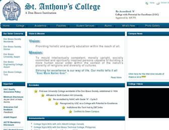 anthonys.ac.in screenshot