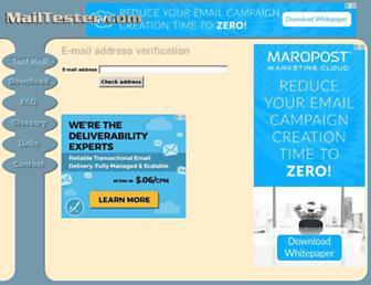 mailtester.com screenshot