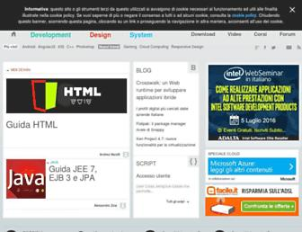 Main page screenshot of html.it