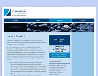 investor.twoharborsinvestment.com screenshot