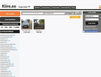Main page screenshot of kiire.ee
