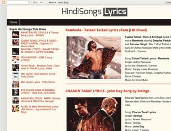 hindisongslyrics.in screenshot