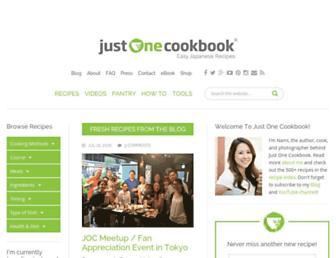 Thumbshot of Justonecookbook.com