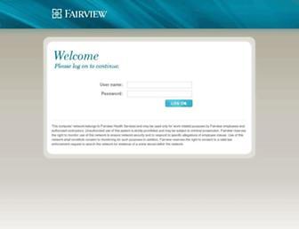 intranet.fairview.org screenshot