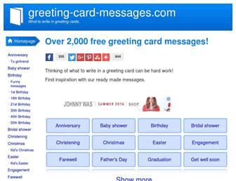 greeting-card-messages.com screenshot