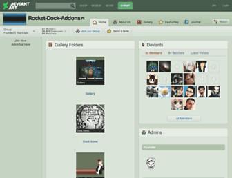 rocket-dock-addons.deviantart.com screenshot