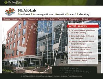 Main page screenshot of nearlab.ece.pdx.edu