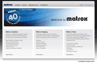 matrox.com screenshot