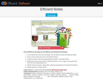 efficientnotes.com screenshot