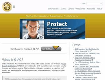 giac.org screenshot