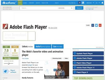 adobe-flash-player.en.softonic.com screenshot