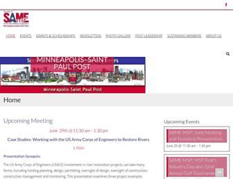 Main page screenshot of same-msp.org