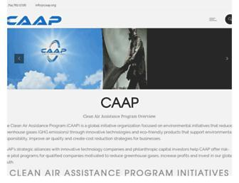Main page screenshot of caap.org