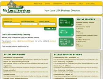mylocalservices.com screenshot