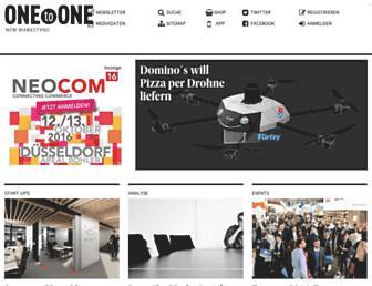 Main page screenshot of onetoone.de