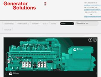 generatorsolutions.no screenshot