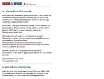 Main page screenshot of webnews.de