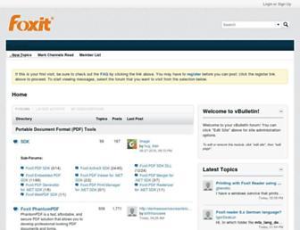 forums.foxitsoftware.com screenshot