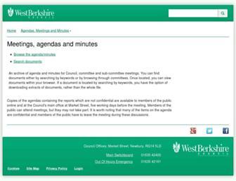 decisionmaking.westberks.gov.uk screenshot