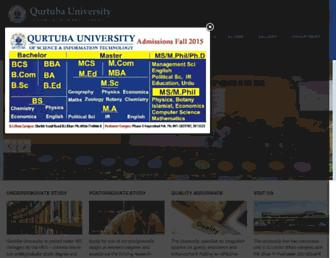 qurtuba.edu.pk screenshot