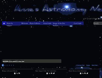 annesastronomynews.com screenshot