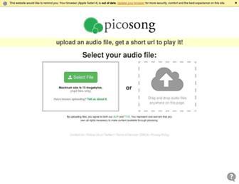 picosong.com screenshot