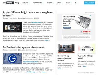 onemorething.nl screenshot