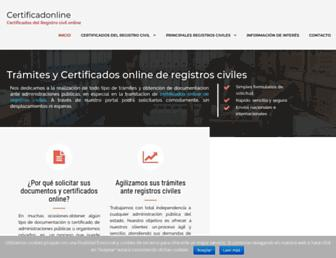 certificadonline.es screenshot