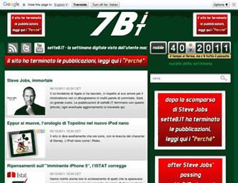 Main page screenshot of setteb.it