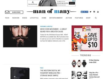 Thumbshot of Manofmany.com