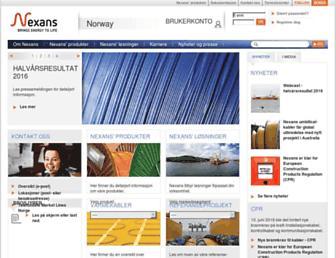 nexans.no screenshot