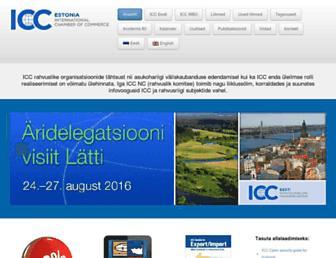 Main page screenshot of icc-estonia.ee
