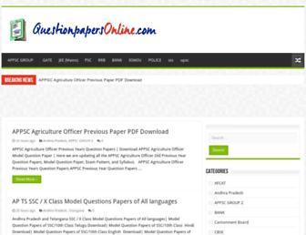 questionpapersonline.com screenshot
